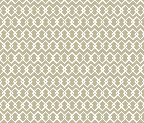Geometric white and beige diamonds fabric by maia_ming_designs on Spoonflower - custom fabric