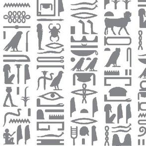 Grey Egyptian Hieroglyphics // Large