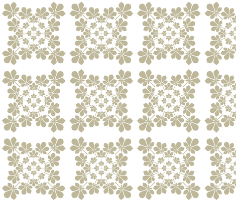 growing leaf pattern in beige and white fabric by maia_ming_designs on Spoonflower - custom fabric