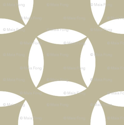 Cutout circles in white and beige