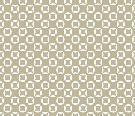 Cutout circles in white and beige fabric by maia_ming_designs on Spoonflower - custom fabric