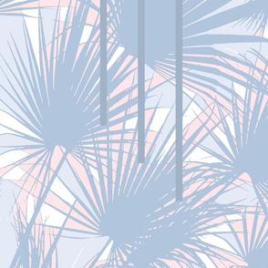 Tropical Art Deco 2.1 Pastel Blue & Pink