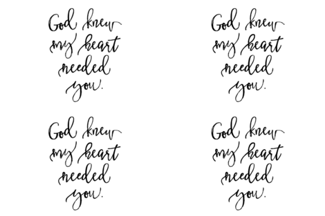 "18""x27"" // God Knew My Heart Needed You fabric by ivieclothco on Spoonflower - custom fabric"