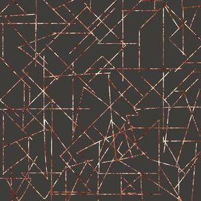 angles copper gray mid century modern