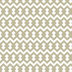 Large diamonds geometrical in beige and white