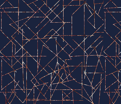 copper angles navy modern urban fabric by jenlats on Spoonflower - custom fabric