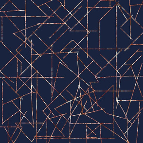 copper angles navy modern urban