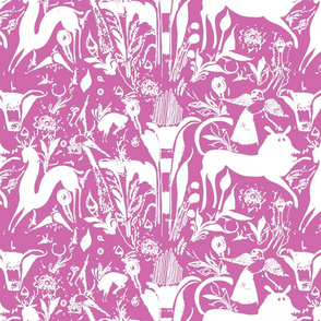 pink otomi with white