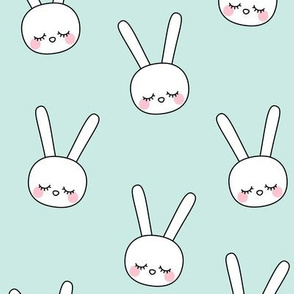 sleepy eyes bunny rabbit large blue