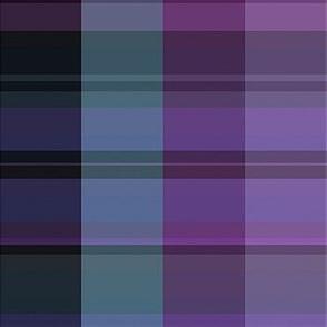 Purple Green Plaid with Black Stripe