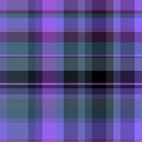 Purple Black Green Plaid