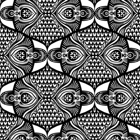 Scaley Scales C fabric by jadegordon on Spoonflower - custom fabric