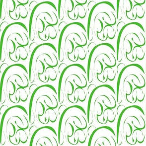 Rolling Hills and Valleys of Green on White