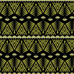Motifs in gold and black