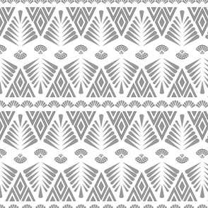 Motifs in grey and white