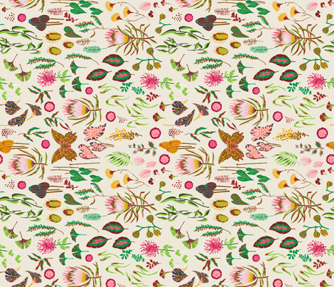 leaf_and_floral_study_light rotated fabric by holli_zollinger on Spoonflower - custom fabric