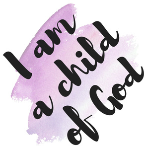 I am a child of God - Pink Watercolor - Swaddle Blanket