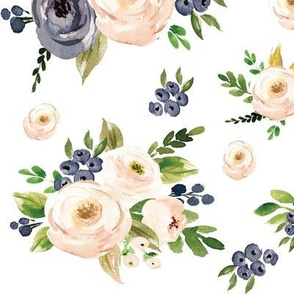 Summer Blooms from Blush and Blue Floral Collection