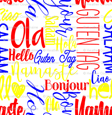"Hello Multi Language Primary Colors 12"""