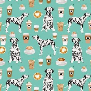 dalmatians cute mint coffee fabric best dalmatian dog print fabric dalmatian fabrics cute mint coffee design - smaller
