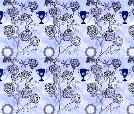 Roses for horses fabric by katawampus on Spoonflower - custom fabric