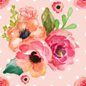 """9"""" Floral Polka in Pink"""