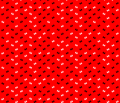 bows on red fabric by pamelachi on Spoonflower - custom fabric