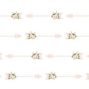 Pink Blush Floral Arrows