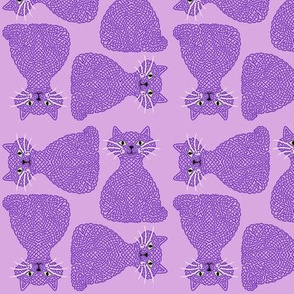 Knotty Cat - purple, small