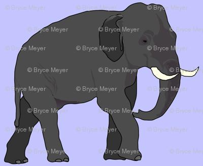Elephant on Purple 1