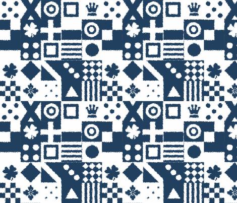 jockey silks in navy & creme fabric by lisakling on Spoonflower - custom fabric
