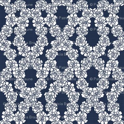 Marigolds Meadow Weave Navy