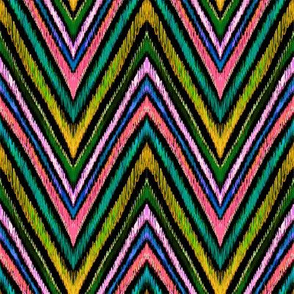 peacock chevron in retro pink
