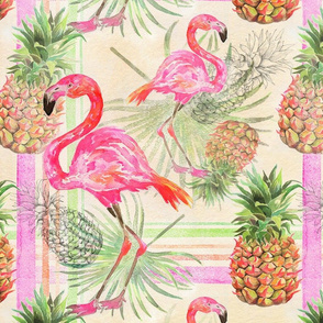 PREPPY PINEAPPLES AND FLAMINGOS