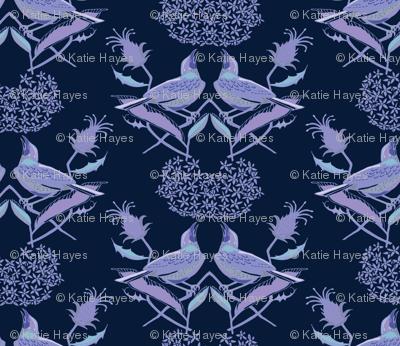 Henslow's Sparrows- Singing in the Milkweed