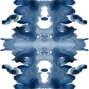 Triple XL Indigo Ink Blot- for Shauna