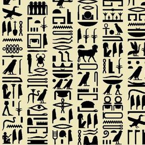 Egyptian Hieroglyphics on Parchment // Small