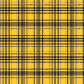 Yellow Badger Wizard School Plaid