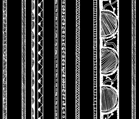 Geo Stripes Black and White fabric by monsteradeliciosamia on Spoonflower - custom fabric