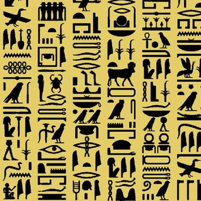 Egyptian Hieroglyphics - Sand // Small