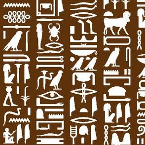 Egyptian Hieroglyphics on Brown // Large