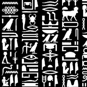 Egyptian Hieroglyphics - Black // Large