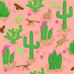 Southwest desert cactus coral