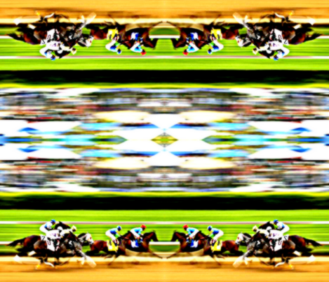 Horse Race fabric by ampersand_designs on Spoonflower - custom fabric