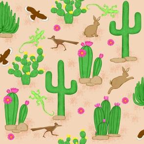 Southwest desert cactus tan