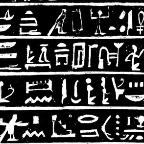 Hieroglyphics on Black // Large