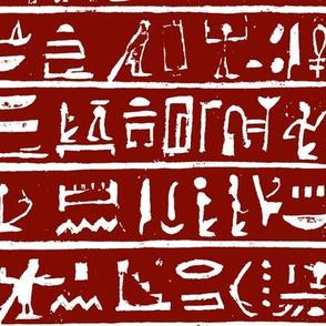 Hieroglyphics on Maroon // Large