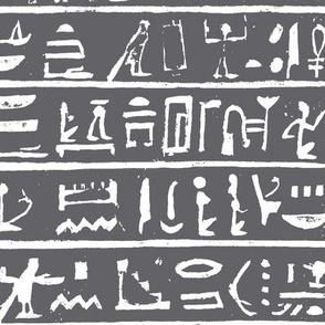 Hieroglyphics on Charcoal // Large