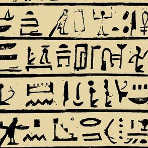 Hieroglyphics on Tan // Large