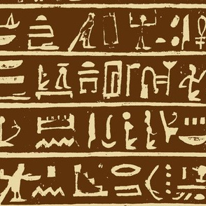Hieroglyphics in Brown & Tan // Large